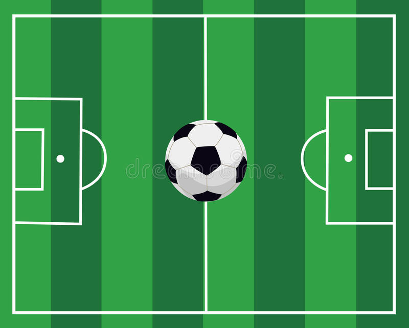 Download Ball on a football field stock vector. Image of round - 21519335