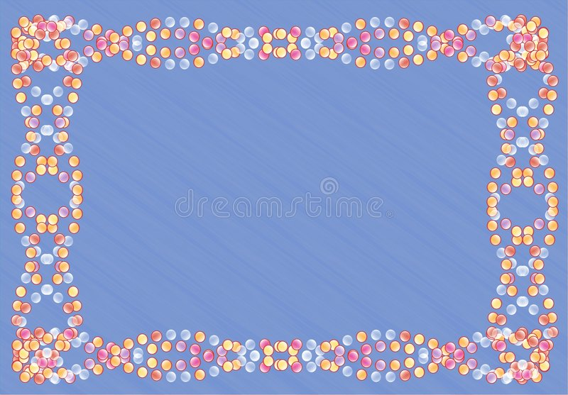 Download Ball frame stock vector. Image of beads, bijouterie, ornament - 7505783