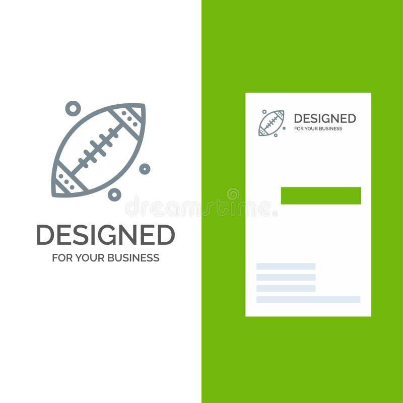 Ball, Fußball, Sport, USA Grey Logo Design und Visitenkarte-Schablone lizenzfreie abbildung
