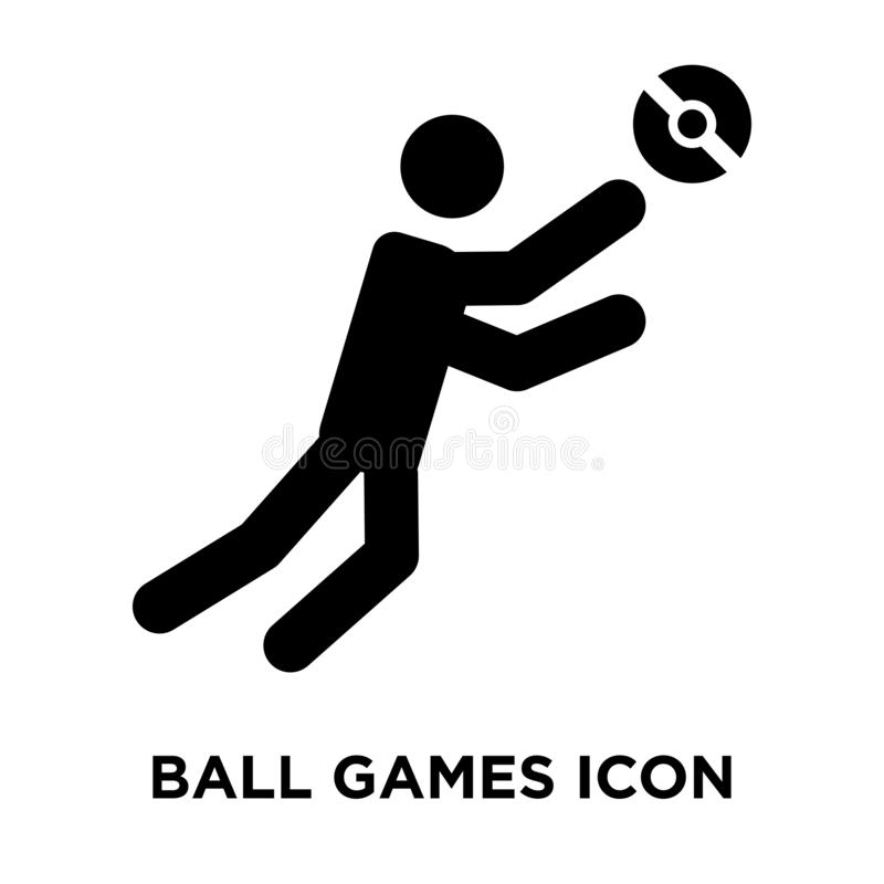 Ball Games icon vector isolated on white background, logo concept of Ball Games sign on transparent background, black filled vector illustration