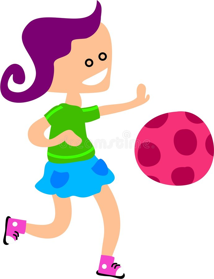 Download Ball Girl stock illustration. Image of play, clipart, playtime - 188508