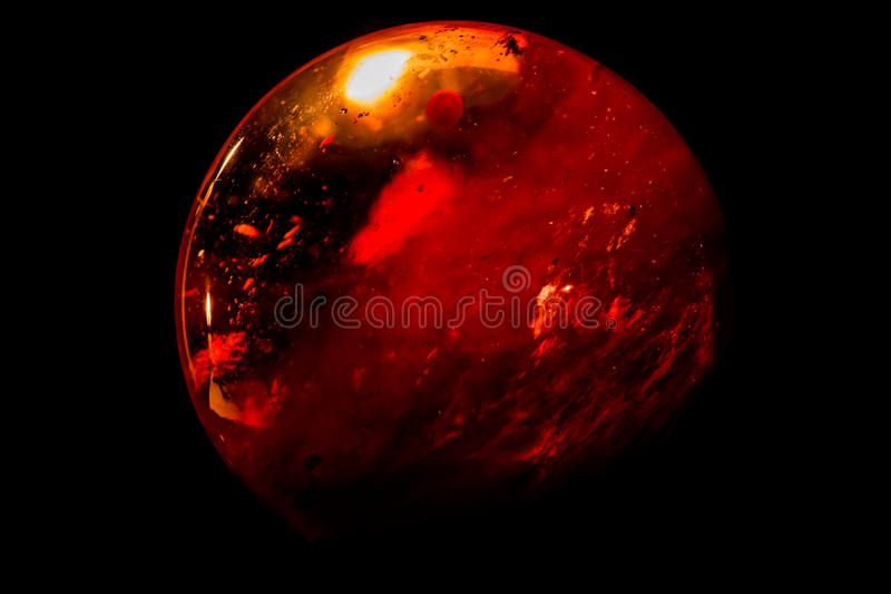 Ball glass sphere look like Mars royalty free stock images