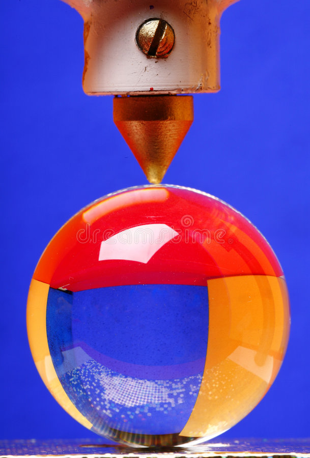Ball of glass under pressure royalty free stock photos