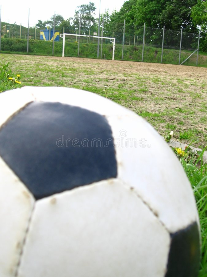 Ball and goal royalty free stock photo