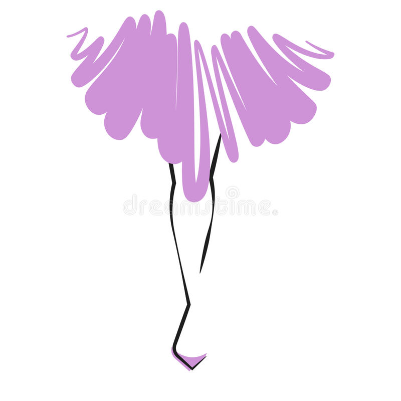 Ball gown legs. Vector illustration royalty free illustration