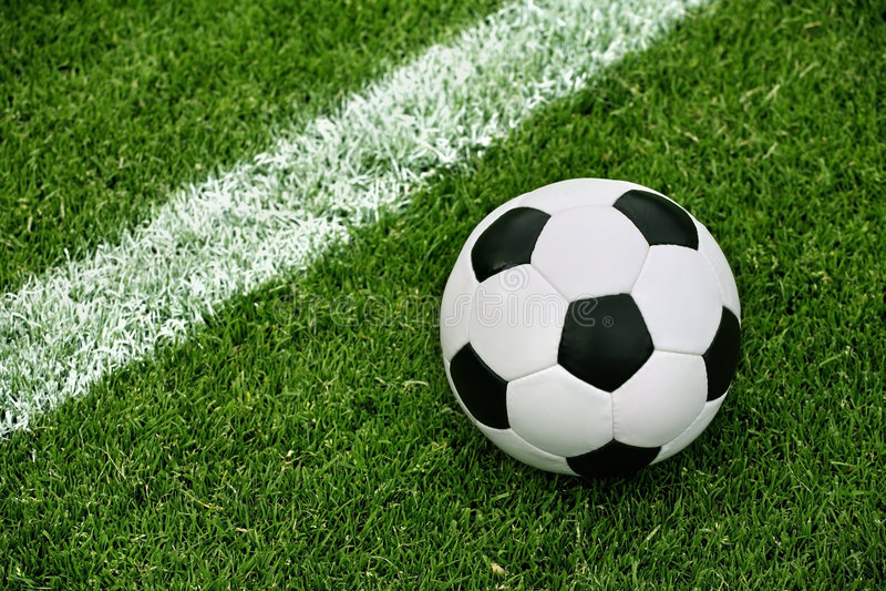 ball grass soccer arkivbild