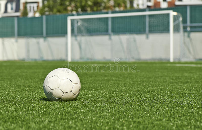 Download Ball on the green field stock photo. Image of playground - 32464406