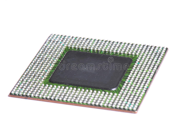 Ball Grid Array Integrated Circuit. A photo taken on the solder ball side of a BGA (Ball Grid Array) IC (Integrated circuits stock photo
