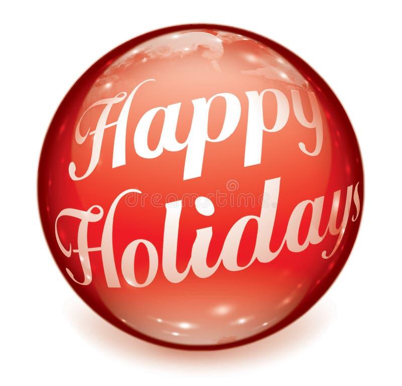 ball happy holidays text ελεύθερη απεικόνιση δικαιώματος