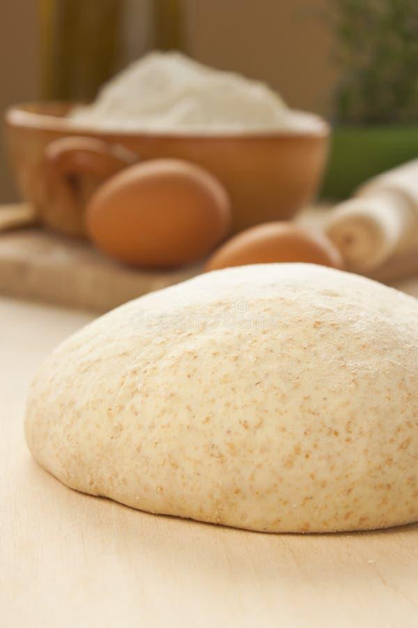 Ball of homemade dough stock photo