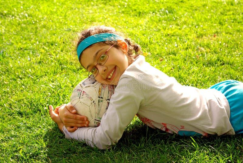 Download Ball Hug stock photo. Image of cute, female, happy, ball - 5459354