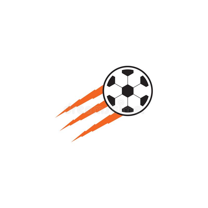 Ball icon logo template. Football logo design vector template royalty free illustration