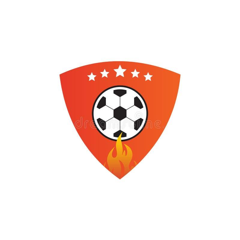 Ball icon logo template. Football logo design vector template stock illustration
