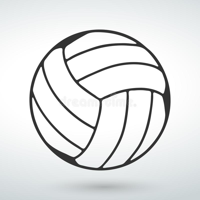 ball icon on a white background royalty free illustration