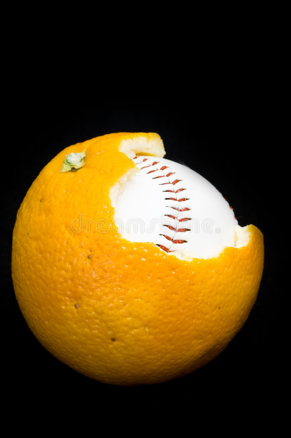 Download Ball inside of orange stock photo. Image of background - 472410