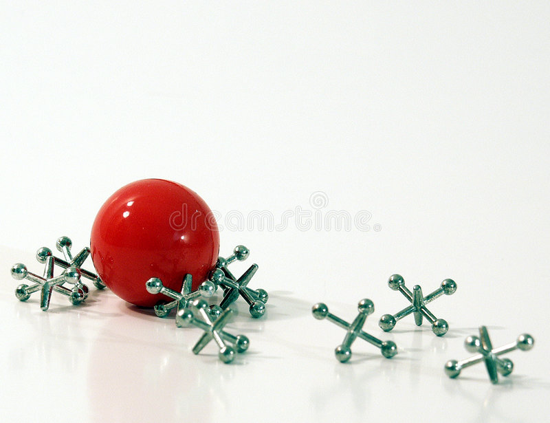 Download Ball and jacks stock image. Image of retro, ball, play - 133259