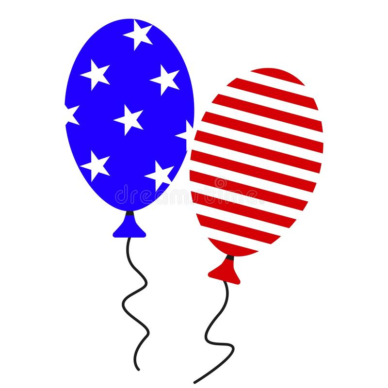 A ball july fourth icons stock illustration