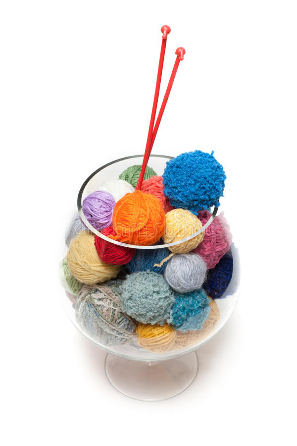 Download Ball for knitting in glass stock photo. Image of warmth - 11736752