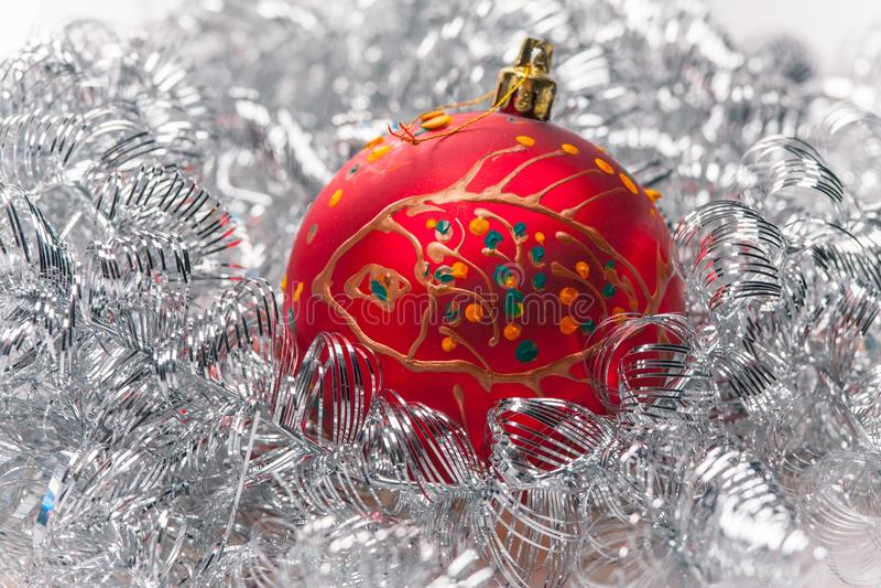 Ball light background. Beautifull christmas ball light background stock photo