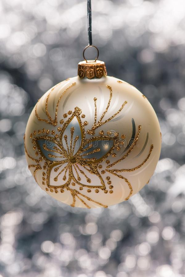 Ball light background. Beautifull christmas ball light background stock photography