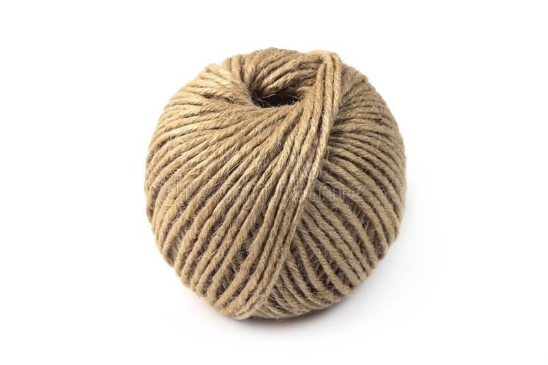 Ball of linen twine royalty free stock images