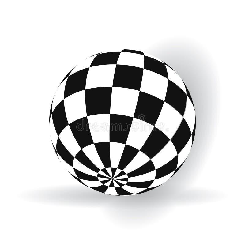 Ball mit Quadraten stock abbildung