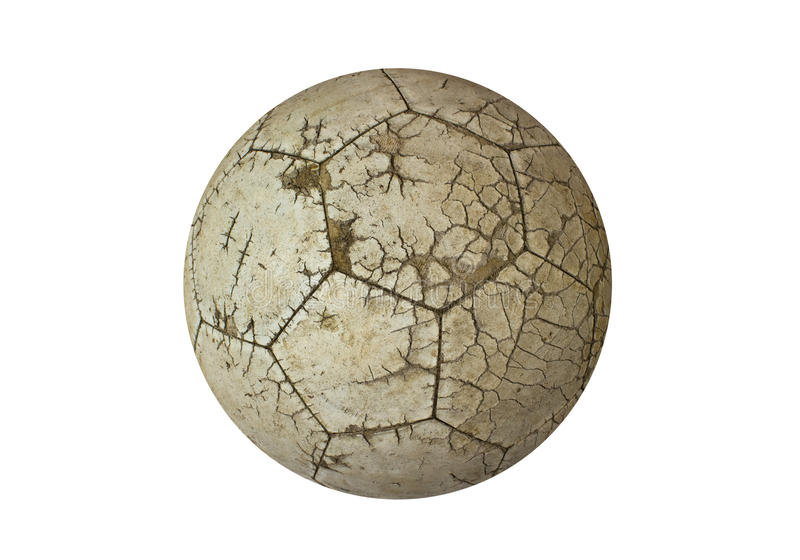 Ball old used white for soccer stock images