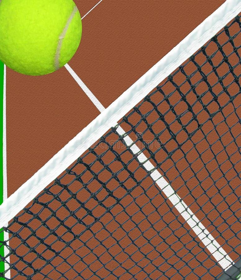 Download Ball over tennis net stock illustration. Illustration of concept - 31617436
