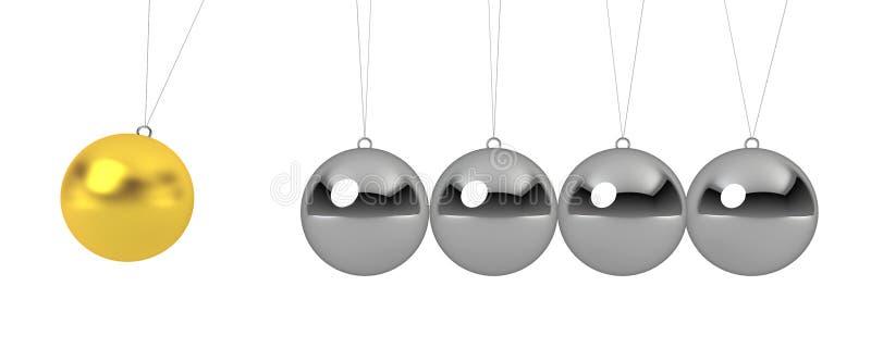 Download Ball pendulum stock illustration. Illustration of motion - 27858567