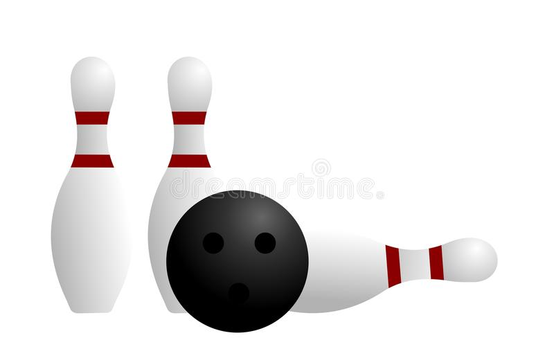 Ball And Pin Of Bowling Stock Photos
