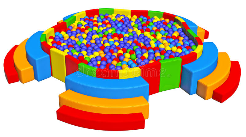 Download Ball Pit stock illustration. Image of funny, yellow, entertainment - 21984586