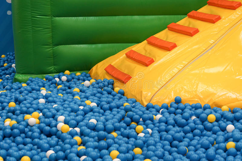Ball pit for kids. / Indoor playground stock images