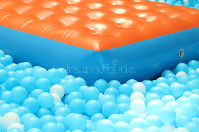 Ball pit for kids. / Indoor playground stock photo