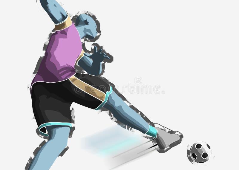 ball player soccer 向量例证