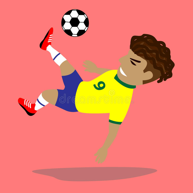 ball player soccer 库存例证