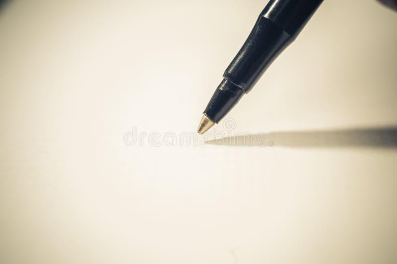 Ball point pen. Closeup on a ball point pen royalty free stock photos