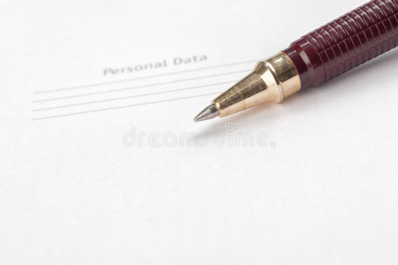 Ball point pen. And notepad royalty free stock images