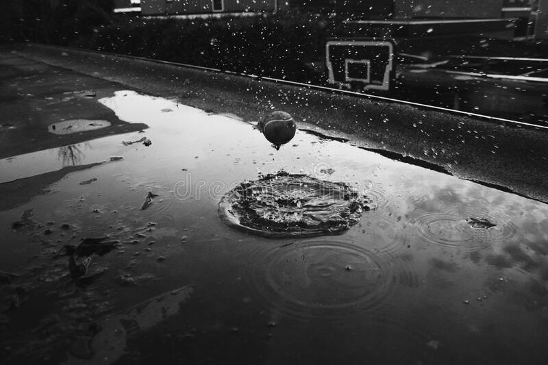 Ball In Puddle Free Public Domain Cc0 Image