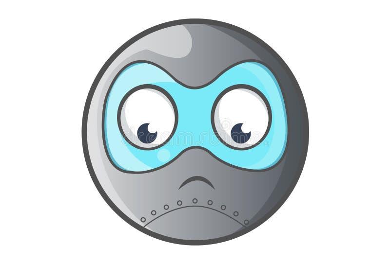 Ball-Roboter-Umkippen lizenzfreie abbildung