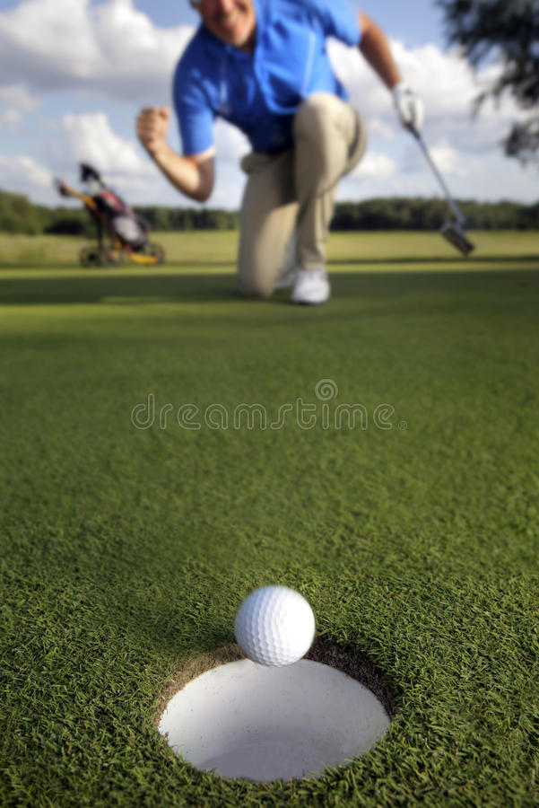 Free Ball Rolling Into The Hole Stock Photos - 19994323