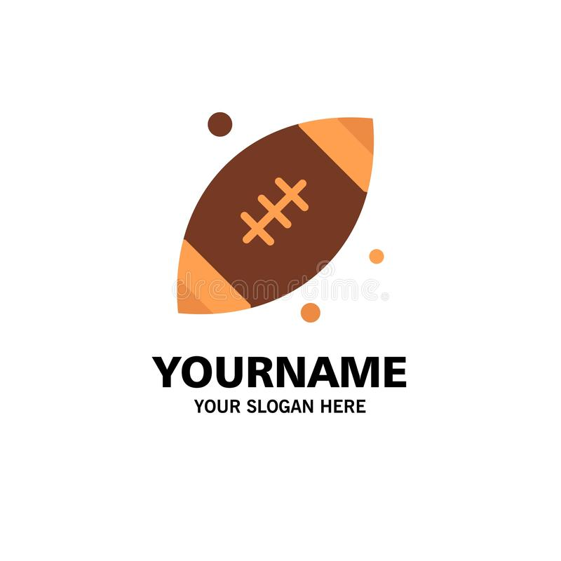 Ball, Rugby, Sports, Ireland Business Logo Template. Flat Color vector illustration