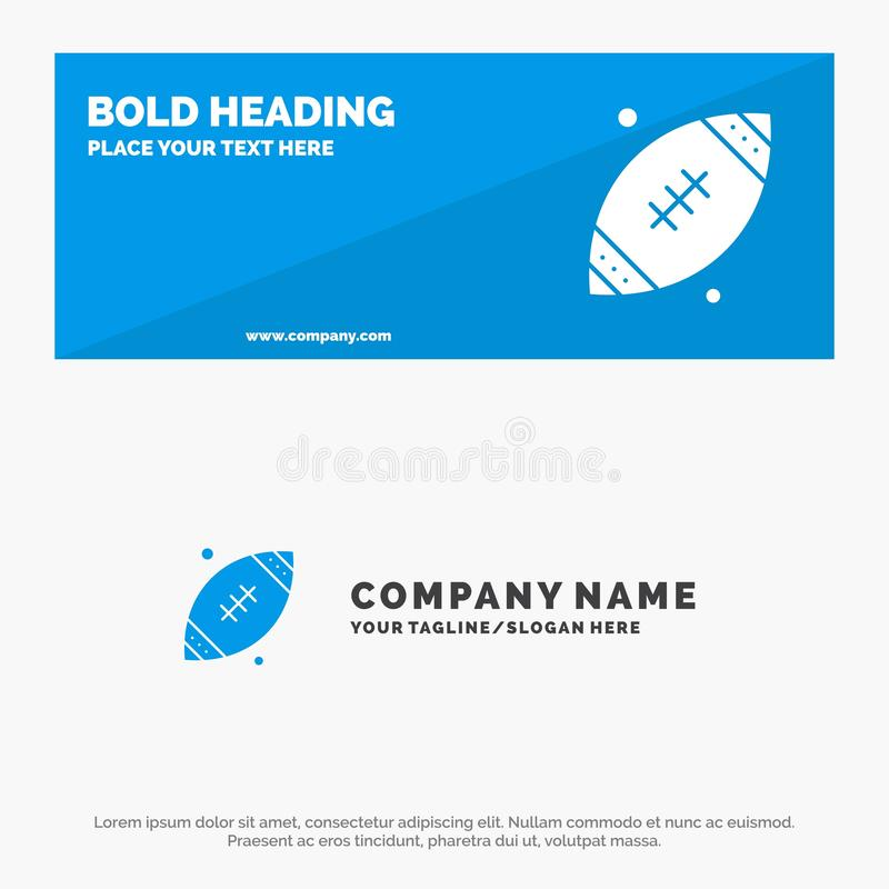 Ball, Rugby, Sports, Ireland SOlid Icon Website Banner and Business Logo Template vector illustration