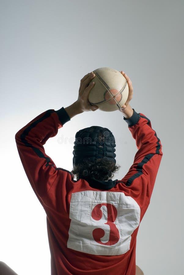 ball rugby throwing vertical στοκ εικόνα με δικαίωμα ελεύθερης χρήσης
