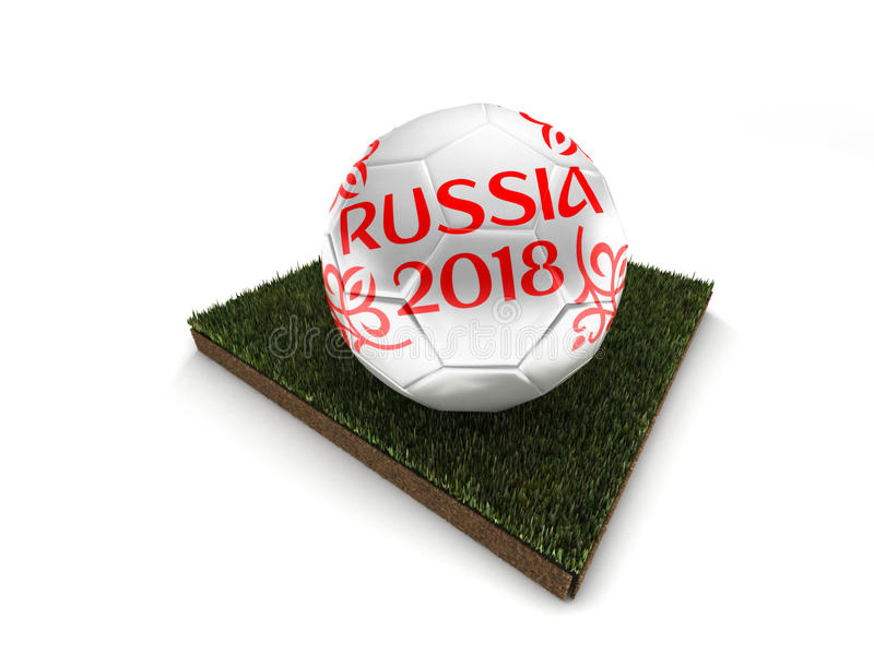 Ball of Russia 2018 world football tournament royalty free stock photo