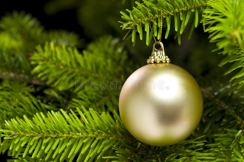 Ball Shape Christmas Tree Decoration Stock Photo