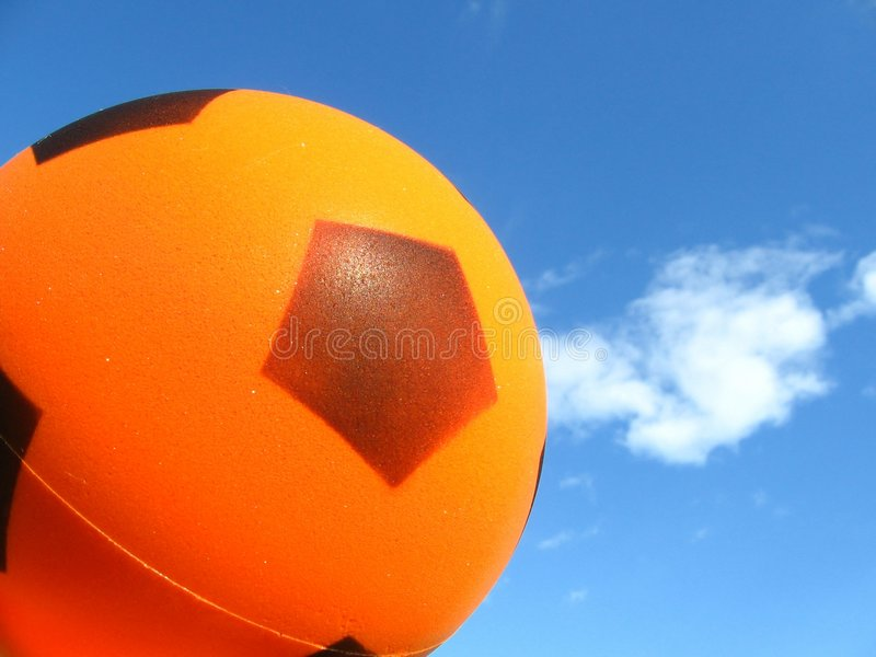 Ball on the sky stock photo
