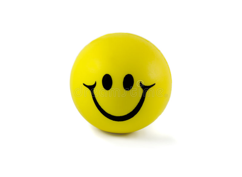 Ball smile. Isolated in white background royalty free stock photo