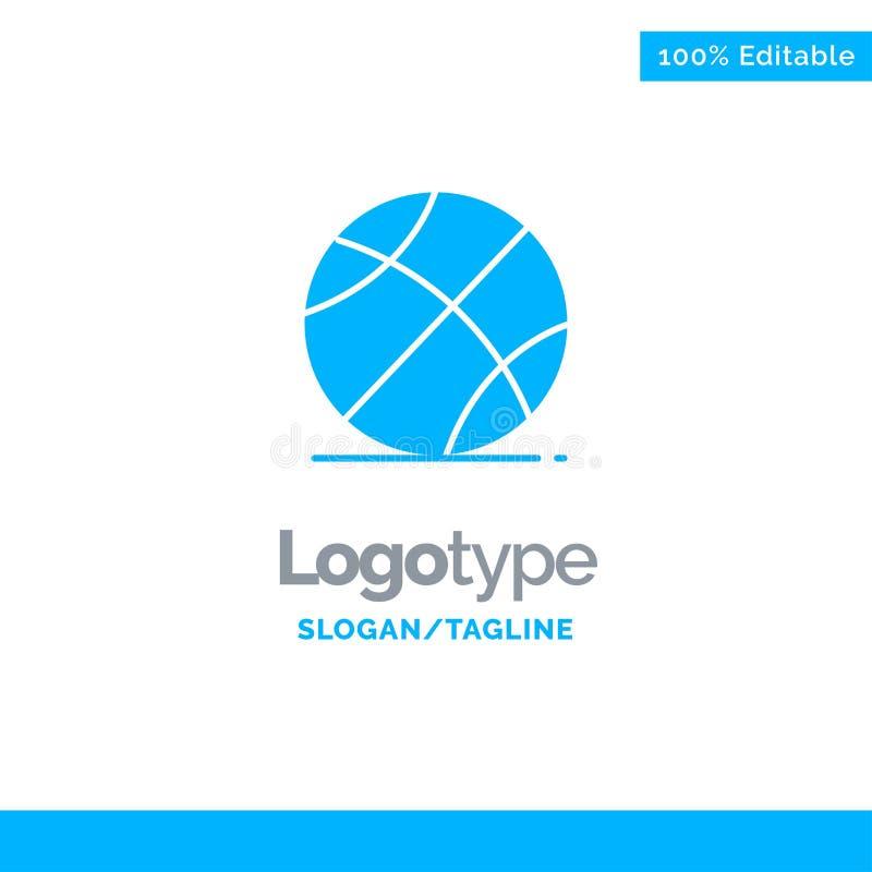 Ball, Sport, Spiel, Ausbildungs-blaues Geschäft Logo Template lizenzfreie abbildung