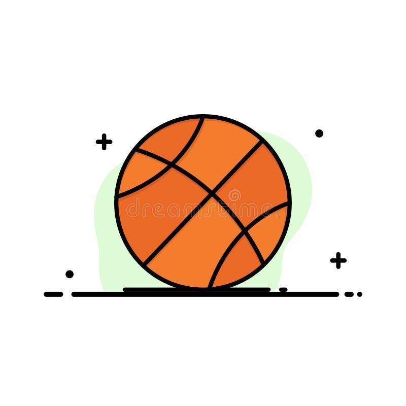 Ball, Sport, Spiel, Ausbildungs-Geschäft Logo Template flache Farbe lizenzfreie abbildung