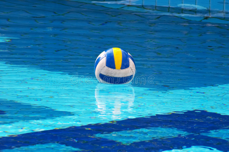 Ball in swimming-pool stock photo